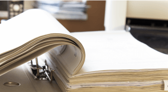 Ring binder of documents